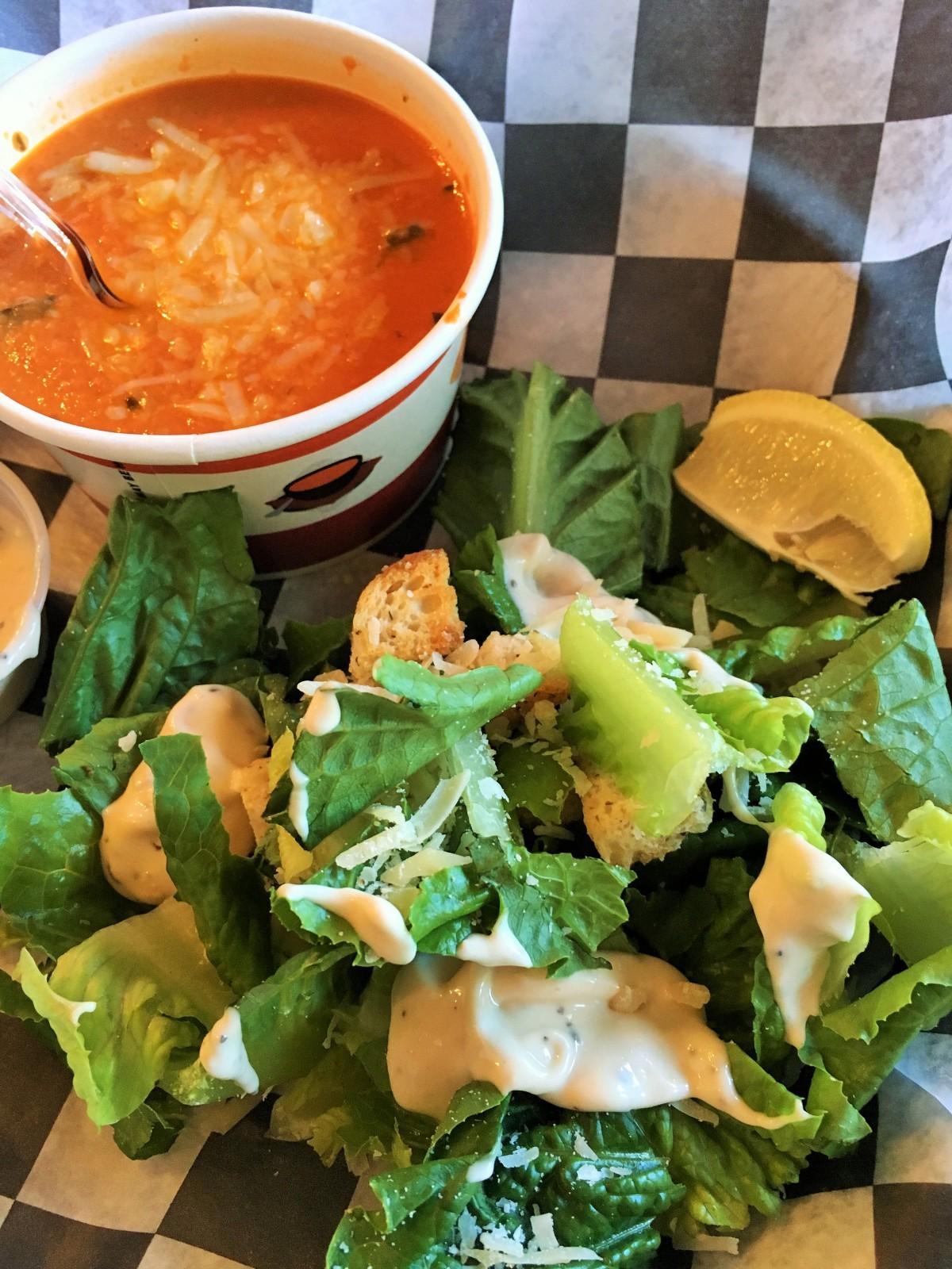 2-homemade-tomato-basil-soup-with-a-caesar-salad