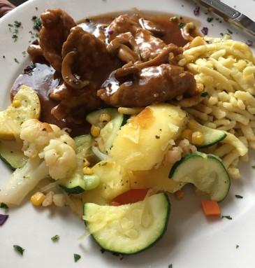 schnitzel-with-spaetzle-and-veggies