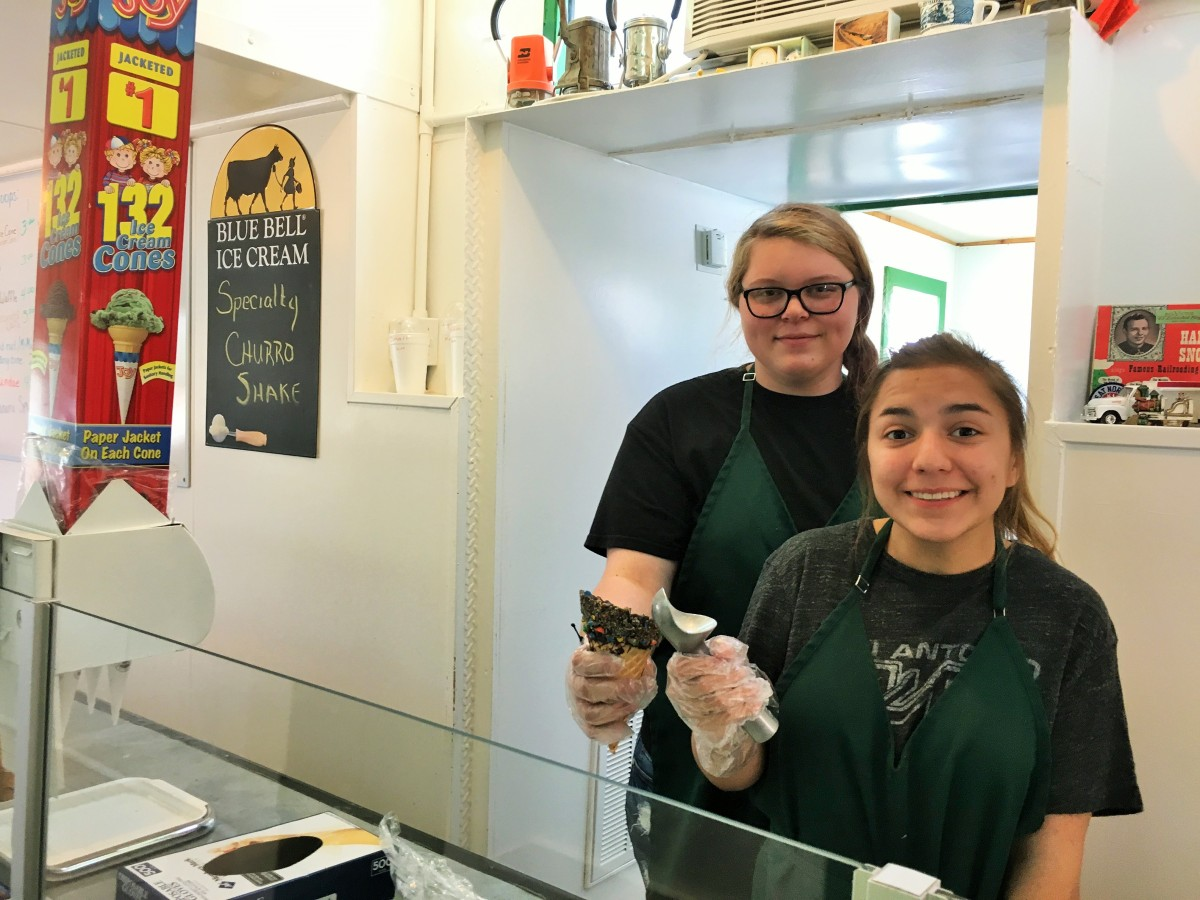 Kendra Miller and Abby Naegle are ready to serve you.
