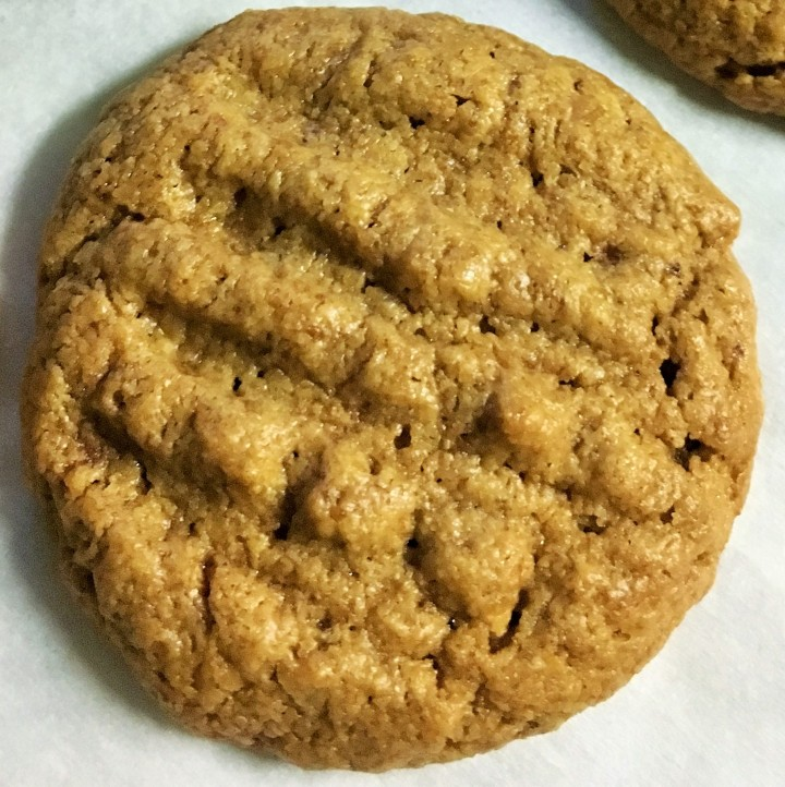 A deliciously gluten-free peanut butter cookie.