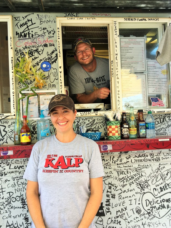 Katrina and Aaron Thomas - geologists and food truck owners.