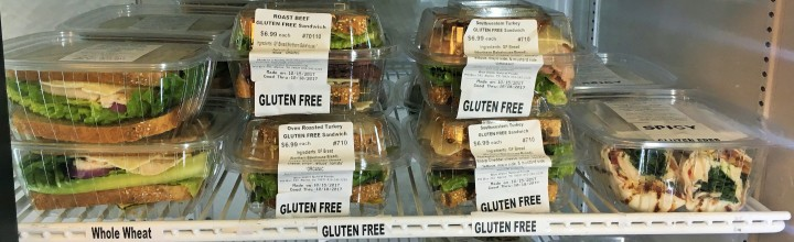 Gluten-free options in the deli!