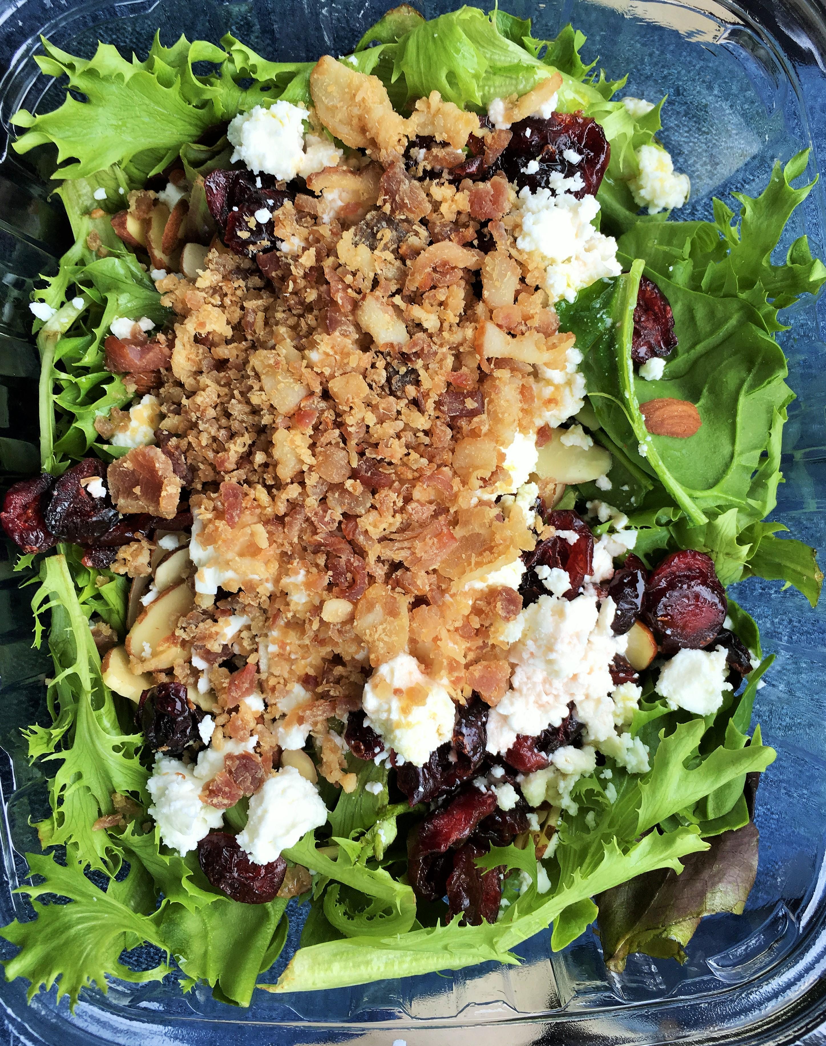 Cranberry Almond Salad was delicious.