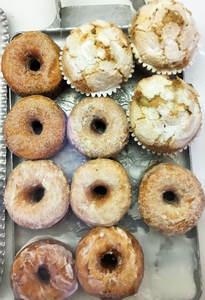 Homemade donuts and muffins are also available.