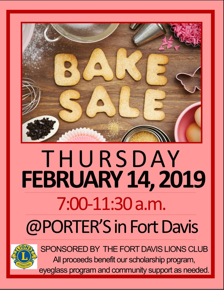2019 Bake Sale Flyer