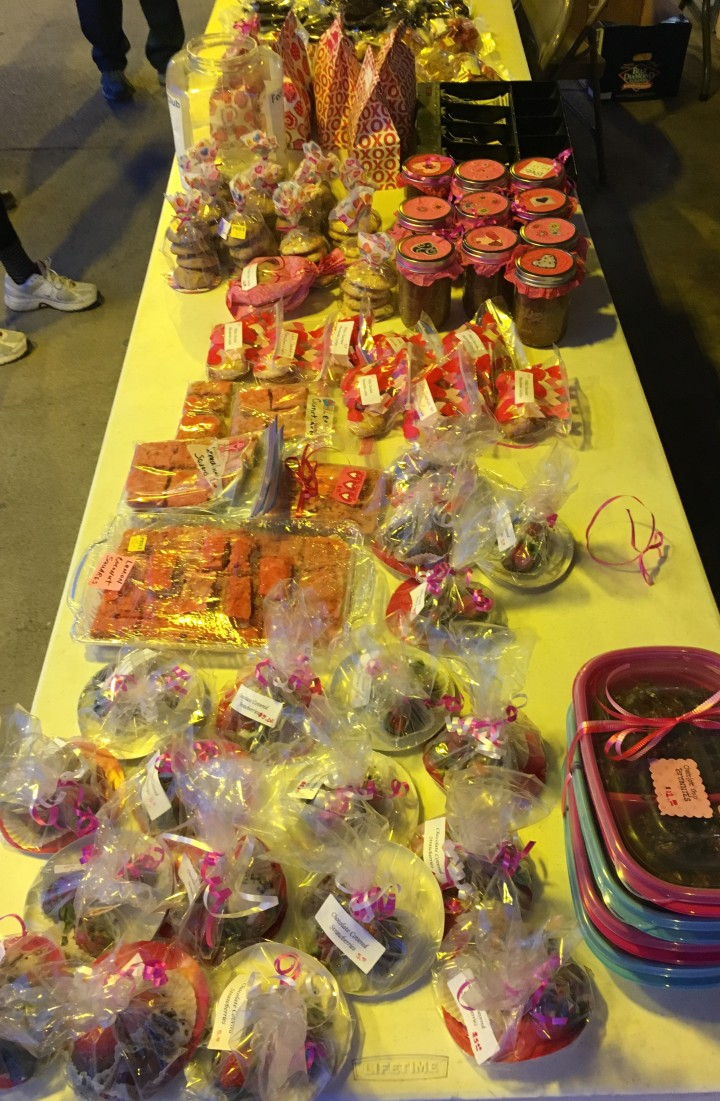 A successful bake sale has a theme, variety and easy to read labels.