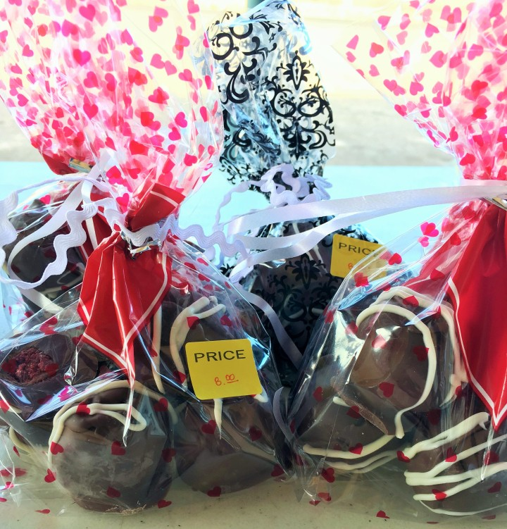 Chocolate covered red velvet cake balls were a top seller last year.