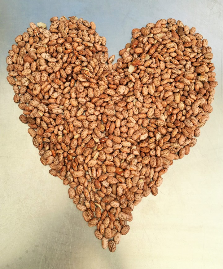 Always sort and rinse your heart-healthy dried beans before cooking them. Be sure to pick out any rocks or dark beans.