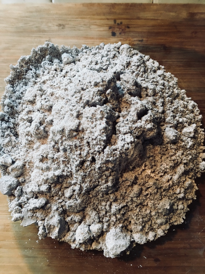 Blue corn masa before water.