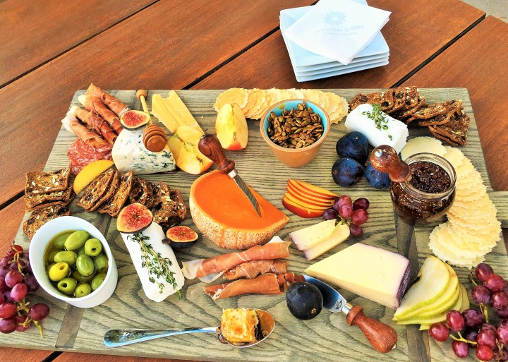 A closer look at the marvelous charcuterie tray.
