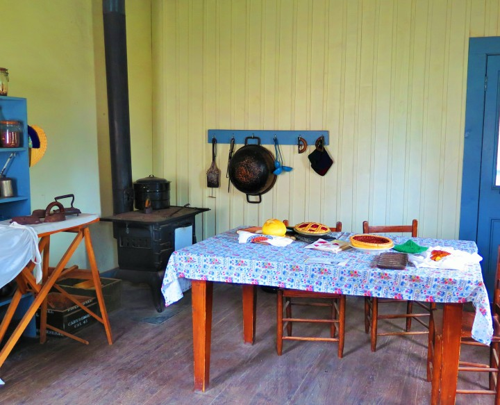 A fully-working restored kitchen at the Fort Davis National Historic Site.